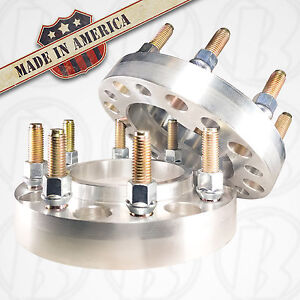 2 Usa Made 8x6 5 To 8x180 Mm Chevy Hub Centric Wheel Adapters 1 Spacers