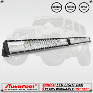 42inch Quad Row 3360w Lens Combo Led Work Light Bar 8 Flash Offroad 4x4 4wd 40