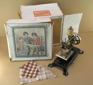 Antique L W Co Toy Sewing Machine Wbox Made Germany Louis Wolf Doll Clothes