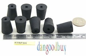 60 Rubber Stoppers Laboratory Stoppers Size 1 With Single Hole corks