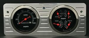 1940 1941 1942 1943 1944 1945 1946 1947 Ford Truck Gauge Cluster Black