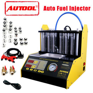 Autool Ct200 Ultrasonic Fuel Injector Cleaner Tester Car motorcycle Us Warehouse
