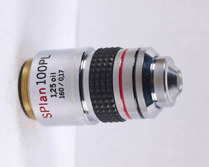 Olympus Splan 100x Pl Phase Low Contrast Oil Microscope Objective