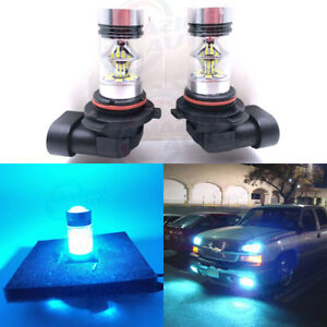 New 2x 9006 Hb4 8000k Ice Blue 100w Cree Led Headlight Bulbs Kit Fog Light Drl