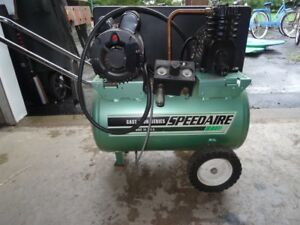 Speedaire Air Compressor 2 0hp 120vac 11gal Portable Barrel Electric