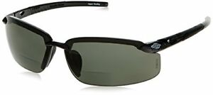 Crossfire Bifocal Safety Glasses 1 5 Polarized Smoke Lens With Black Frame