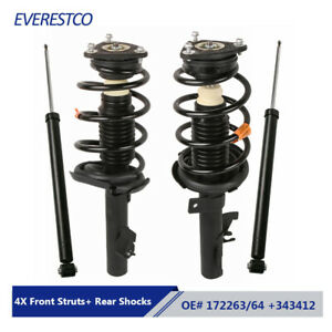 Set 4 Complete Front Struts Rear Shocks Absorbers Assemby For Mazda 3 Mazda 5