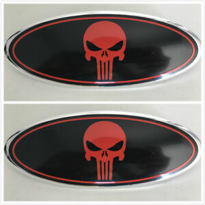 2x New Punisher Ford F 150 f250 f350 Oval Emblem Front Grille Tailgate 9 Badge