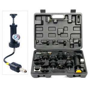 Radiator Coolant System Pressure Leak Tester Tool Detector Checker Pump Kit