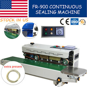 Continuous Plastic Bag Band Sealing Machine Semi auto Fr 900 Sealer 110v