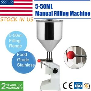 Manual 5 50ml Liquid Filling Machine Cream Paste Shampoo Cosmetic Filler