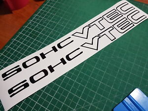 Sohc Vtec 16x1 5 Decals Stickers Graphics Honda Acura Jdm Banner Badges Black