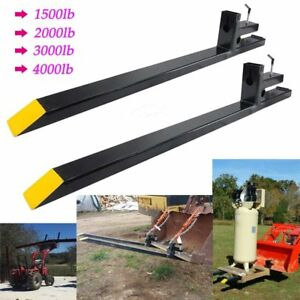 Clamp On Lw Pallet Forks 1500lb 2000lb 3000lb 4000lb For Bucket Loaders Tractor