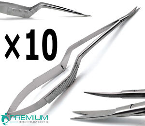 10 Pcs New Micro Scissors 7 5 Yasargil Sharp sharp Curved Surgical Instruments
