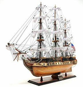 Uss Constitution Old Ironsides Tall Ship 29 Wood Model Sailboat Assembled