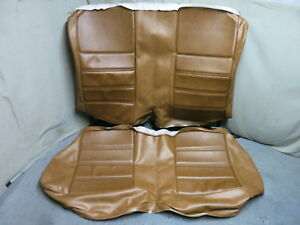 1971 Mustang Coupe Rear Bench Seat Cover Upholstery Set Reproduction Ginger