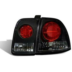Cg 1996 1997 Honda Accord Altezza Style Black Clear Tail Lights Set