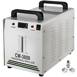 Industrial Water Chiller Cw 3000 50w Cnc Laser Engraver Co2 Glass Tube 220v
