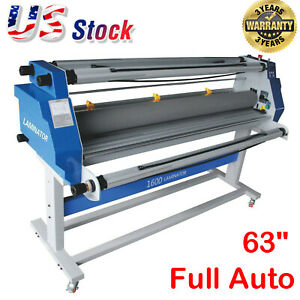 Upgraded 60 Hot Cold Roll Laminator Full auto Take Up Low Heating Seal Laminat