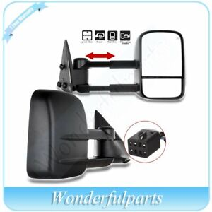 Left Right Side Mirror Power Heated Door Tow Mirrors For 99 2002 Chevy Gmc Truck