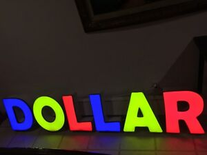 Store Sign Dollar Store dollar Sign Full Led Light Up