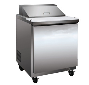27 304 Stainless Steel Commercial Salad Sandwich Refrigerator Prep Table Cool