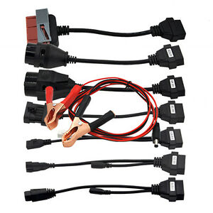 Car Cables Adapter 8pcs Obd2 Ii Cdp For Autocom Cdp Pro Car Diagnostic Scanner