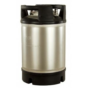 Stainless Steel 2 5 Gallon Dual Rubber Foot Handled Ball Lock Keg