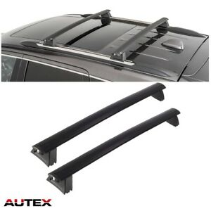 Autex Black Cross Bar Roof Racks Top Cargo Carrier For 11 18 Jeep Grand Cherokee