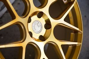 19x9 5 Aodhan Ls002 5x120 Et35 Gold Bmw 3 5 Series Non Staggered Set Of 4