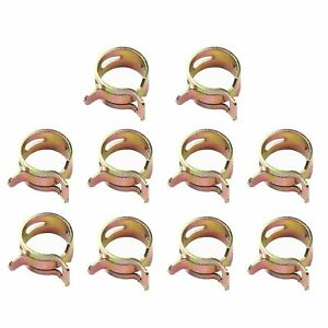 10pcs 8mm 5 16 Inch Spring Clip Vacuum Fuel Oil Hose Line Air Tube Band Clamp