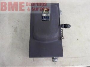 Square D Safety Switch 60 Amp 3 Phase 600 Vac Single Throw Fusible