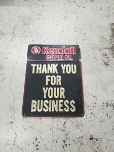 Thank You For Your Business 24 x18 Kendall Motor Oil Aluminium Sign Banner