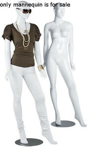 New Retails Olivia Glossy White Female Mannequin With Sturdy Metal Base