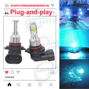 Super Bright H10 9145 9005 8000k Ice Blue 55w Cree Led Fog Light Conversion Kit
