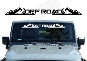 Off Road Windshield Banner Decal Back Window Sticker Fits Jeep 4x4 Mud Wb13