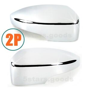 Accessories Chrome Door Mirror Covers Trims For 2012 2018 Ford Focus Hatchback