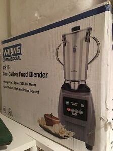 New In The Box Waring 1 Gallon Commercial Food Blender Model Cb 15 Fast Shipping