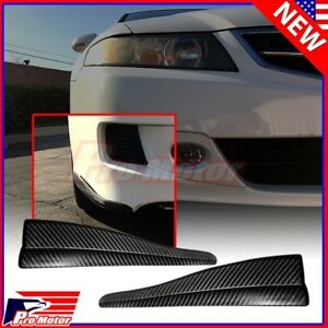 2 X Front Rear Carbon Fiber Bumper Corner Lip Side Scratch Protector Strap Guard
