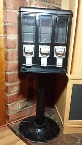 Metal Triple Bulk Amerivend Vending Machine Candy gumball Dispenser Preowned