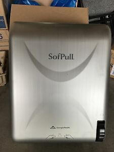Commercial Grade Georgia Pacific Sofpull Stainless Steel Papertowel Dispenser