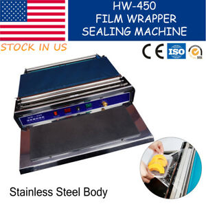 17 45cm Food Tray Wrapper Film Wrap Sealer Fruit food Sealing Machine 110v