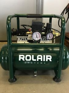 Rolair Portable Air Compressor Electric Hand Carry Small Pump