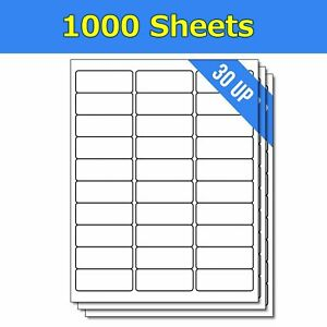 1 X 2 5 8 30000 Address Blank Shipping Adhesive Labels Compatible 2 625 X 1 30up