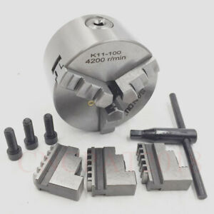 3jaw 4 Precision Lathe Chuck 100mm Self centering 4inch Hardened Steel Cnc