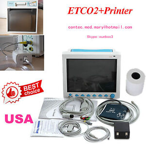 Usa Fedex fda Multi parameter Cms8000 With Et co2 Icu Patient Monitor Printer