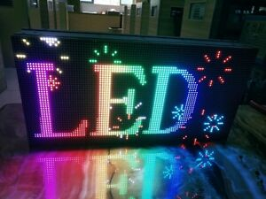 Wi fi Outdoor indoor Full Coll P4 91 20 X 10 Inch Led Sign Video Image usa Sell