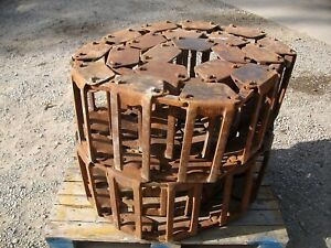 12 Grouser Skid Steer Loader Over Tire Steel Tracks John Deere Bobcat Case Cat