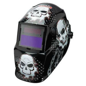 Lincoln Electric Variable Shade Auto Darkening Welding Helmet Skull Design 9 13