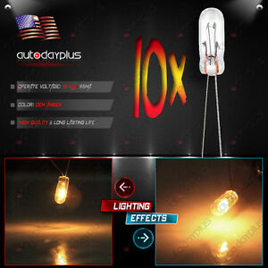 10x 4 7mm 12v 14v Cluster Speedometer Climate Control Light Bulbs For Gm Chevy